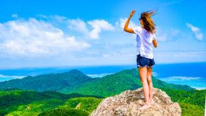 野底岳の上から絶景を眺める