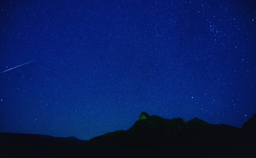 流れ星を見られる石垣島の夜空