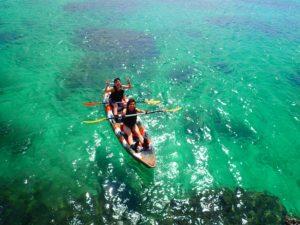 透明度抜群の宮古島の海でカヤック体験