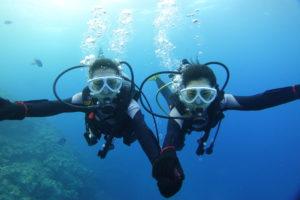 カップルで沖縄体験ダイビング
