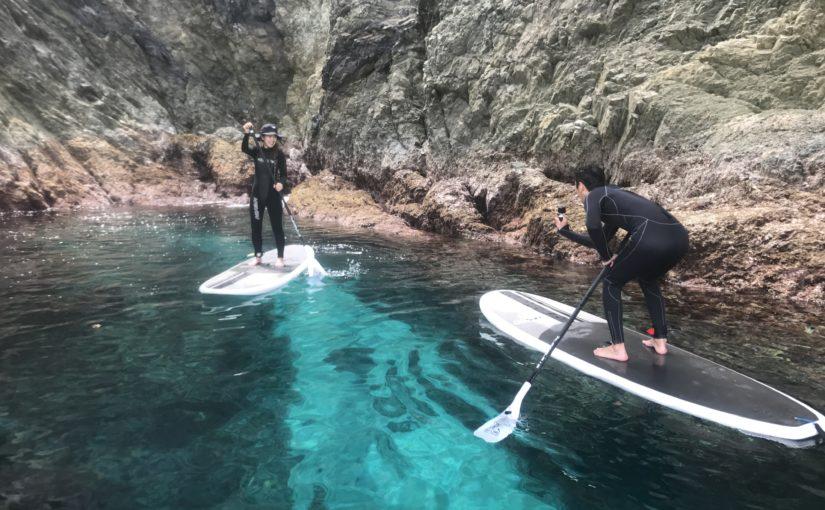 沖縄の無人島でのSUPツアー