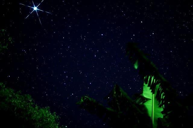 宮古島のきらめく星空