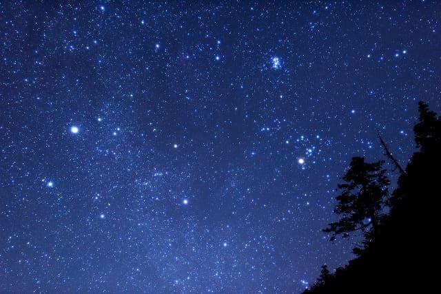 西表島の夜の満天の星