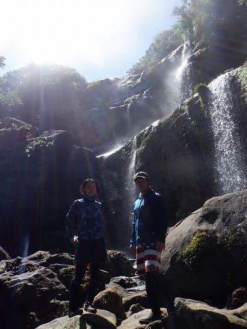 西表島のユツンの三段滝