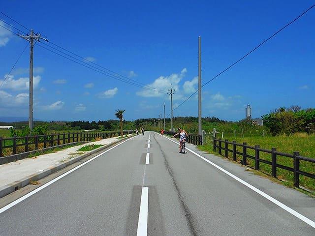 黒島でのサイクリング