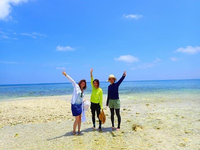 西表島のバラス島へ上陸
