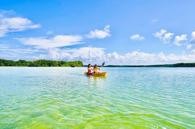 西表島の早朝カヤックを女子旅で満喫