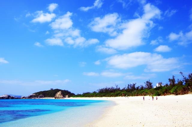 チービシ諸島のビーチ
