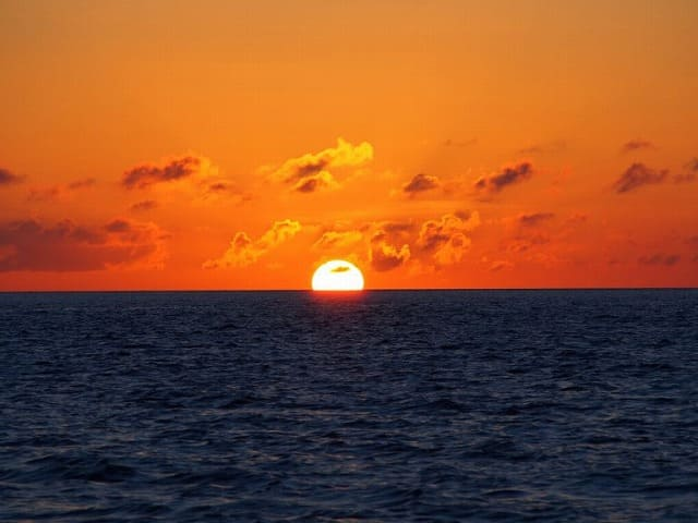 沈みそうな夕日