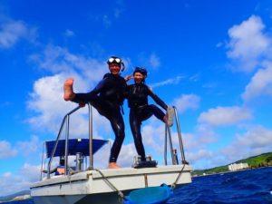 船から飛び込めるボートシュノーケリング