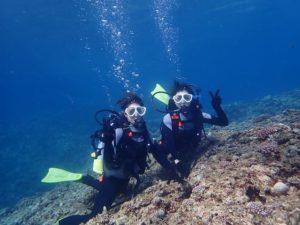 女子旅で初めての体験ダイビング