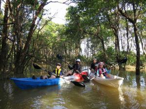 家族旅行で沖縄カヤック体験