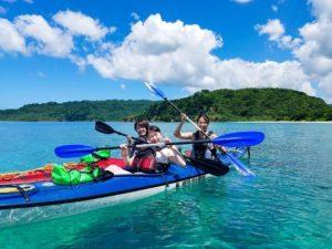 西表島のカヤック(カヌー)ツアーにはシーカヤックもある