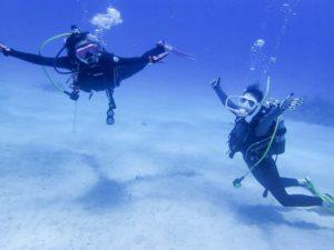 女子旅で初参加の体験ダイビング