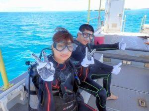カップルで体験ダイビング初体験