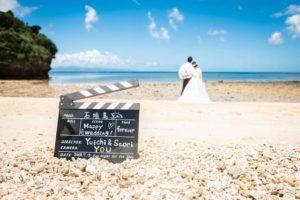 石垣島のビーチでウエディングフォト撮影