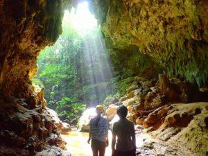 西表島の秘境地にある一番大きな鍾乳洞