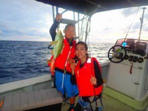 ファミリーで爆釣釣り体験