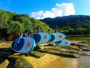 西表島のマングローブツアーに参加するグループ