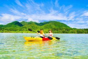 女子旅で石垣島シーカヤックを楽しむ
