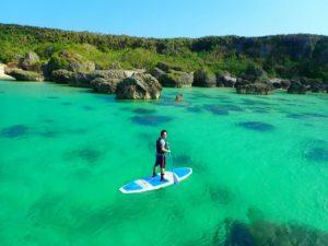 日本一の宮古島の海でサップクルージング
