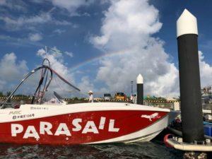 宮古島のパラセーリングで使用するボート