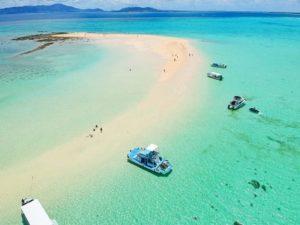 幻の島を上空から空撮