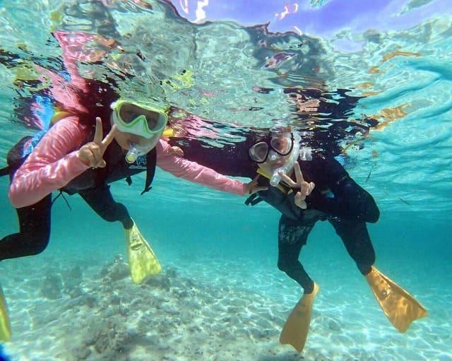 西表島の透明度抜群の海をシュノーケリングで満喫