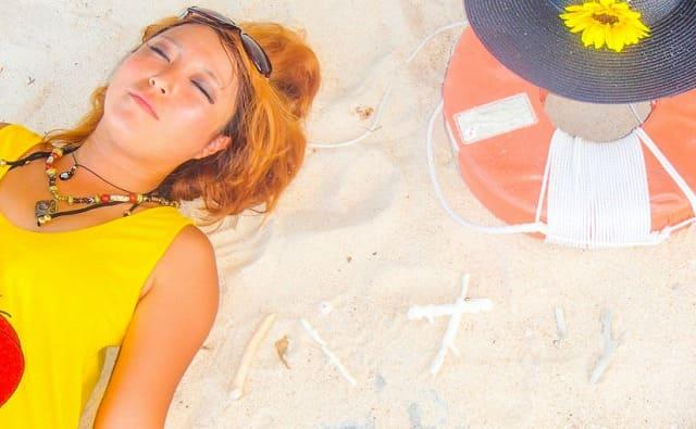 石垣島から行けるパナリ島のビーチ
