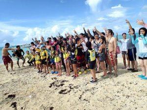 団体旅行でバラス島に上陸
