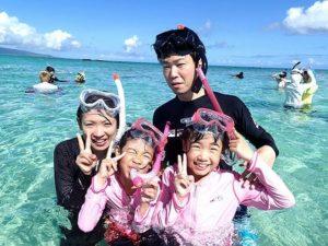 家族旅行で小浜島のシュノーケリングを体験