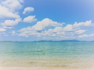 小浜島のトゥマールビーチ