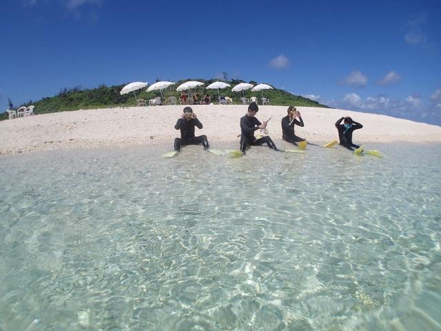 パナリ島でのシュノーケリング