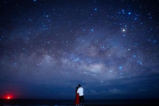宮古島の星空観測ツアーで流れ星を発見