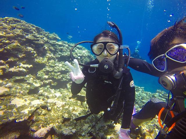 宮古島の体験ダイビングの様子
