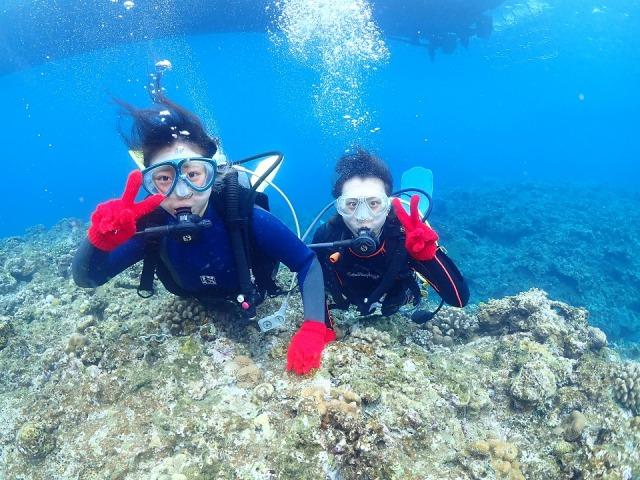 ケラマブルーの海で楽しむ体験ダイビング