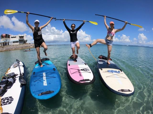 女子旅で沖縄SUP体験