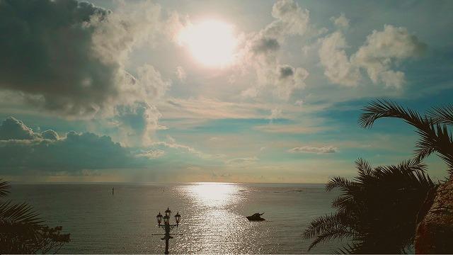 サンセットが美しい沖縄・北谷の海