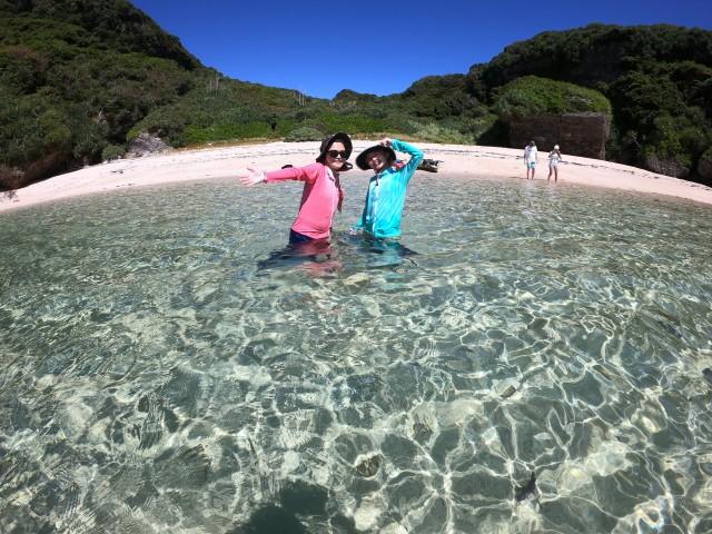 縄本島からすぐの無人島へカヤックで行